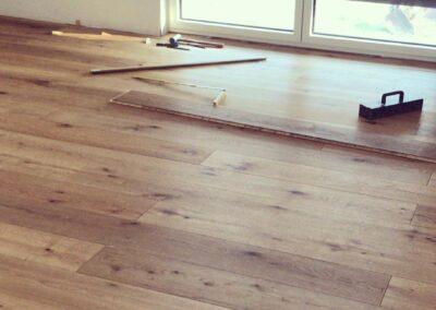 Dřevěná podlaha – realizace Chrustenice